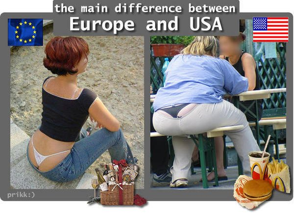 Fund de femeie din Europa vs Fund de femeie din America