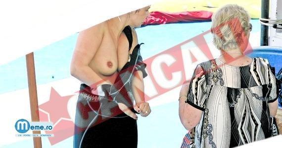Andreea Marin dezbracata, in sanii goi pe plaja
