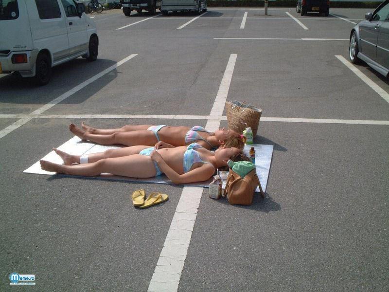 La plaja in.. parcare