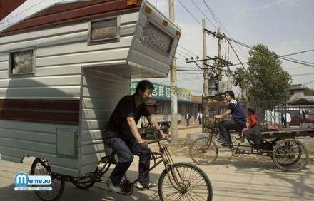Rulota pe bicicleta