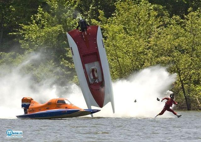 Accident pe apa