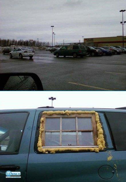 Masina cu fereastra