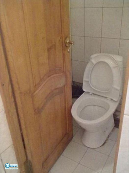 Nu uita sa inchizi usa de la toaleta