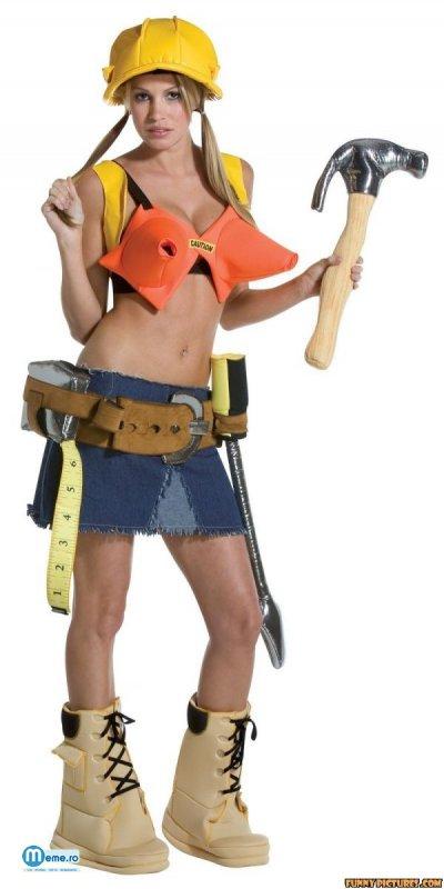 Costum de constructii pentru femei