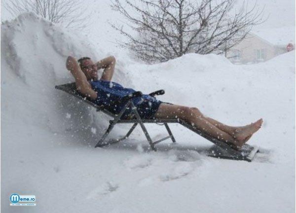 Cum sa faci plaja iarna, in zapada