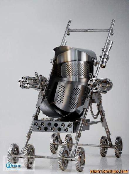 Carucior pentru copilul Terminator