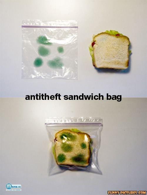 Punga de sandwich antimucegai