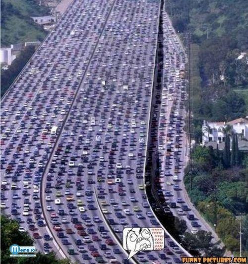 Aglomeratie ingredibila pe autostrada