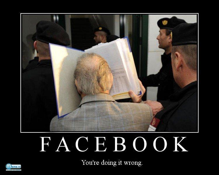 Unii inteleg gresit termenul de facebook